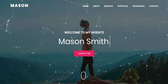 Mason — Portfolio HTML Theme