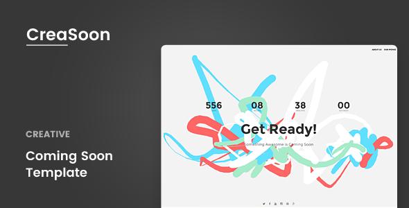 CreaSoon v1.0 — Creative Coming Soon Template