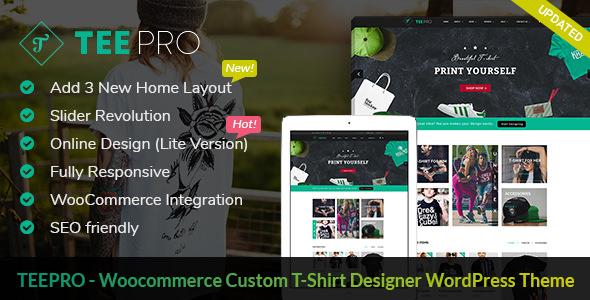 TEEPRO v2.1.1 — Woocommerce Custom T-Shirt Designer