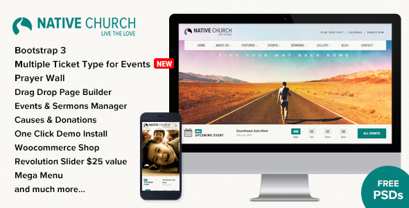 NativeChurch v2.9.9.3 — Multi Purpose WordPress Theme