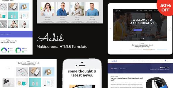 Aabid v1.0 — Powerful Multipurpose HTML5 Website Template