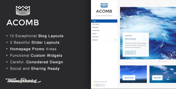 Acomb v1.0.5 — Responsive Blogging WordPress Theme