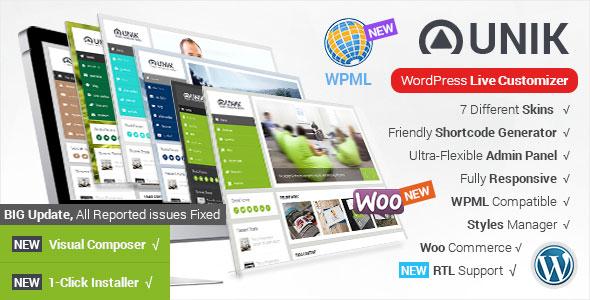Unik v1.8.7 — Ultra-Customizable WordPress Theme