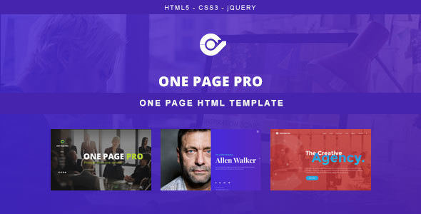 One Page Pro — Multi Purpose OnePage HTML Template