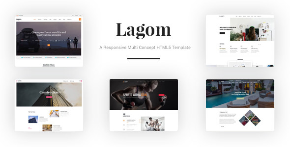 Lagom — A Responsive Multi Concept HTML5 Template