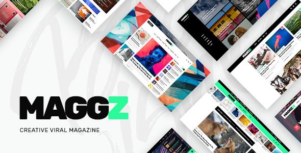 Maggz v1.1 — A Creative Viral Magazine and Blog Theme