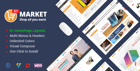 Market v2.3.0 — Shopping WooCommerce WordPress Theme