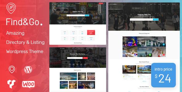 Findgo v1.2.13 — Directory & Listing WordPress Theme