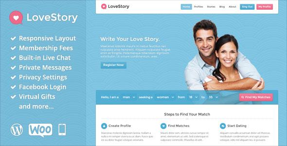 LoveStory v1.21 — Themeforest Dating WordPress Theme