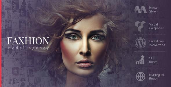 Faxhion v1.3.7 — Model Agency WordPress Theme