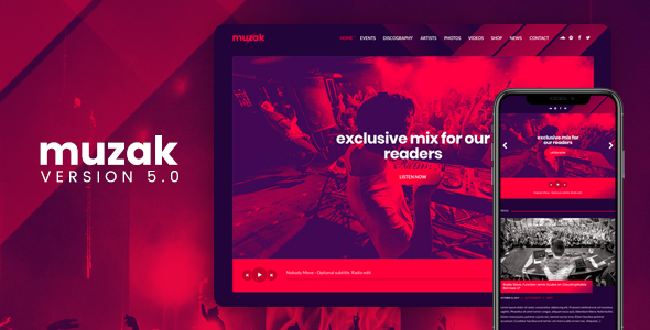 Muzak v5.2 — Music WordPress theme