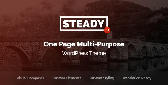 Steady v1.1 — One Page Multi-Purpose WordPress Theme