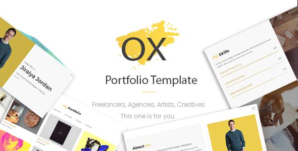 OX — Creative Personal Portfolio Template