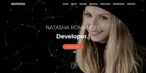 Natasha v1.0 — One Page Portfolio HTML Template