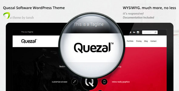 Quezal v2.6.0 — Software Responsive WordPress Theme