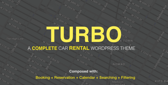 Turbo v2.1.0 — Car Rental System WordPress Theme