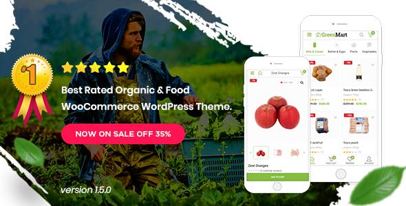 GreenMart v1.5 — Organic & Food WooCommerce WordPress Theme