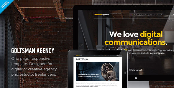 Goltsman Agency v1.0.1 — One Page Responsive Template