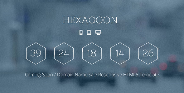 Hexagoon — Coming Soon / Domain Name Sale Template