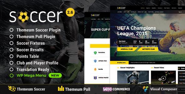 Soccer v2.6 — Sport WordPress Theme for Football