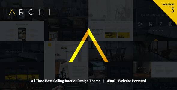 Archi v3.8.5 — Interior Design WordPress Theme