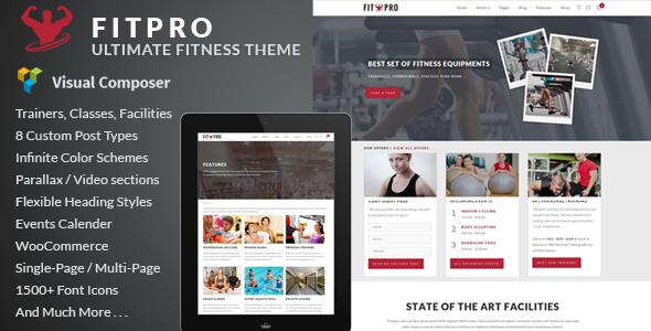 FitPro v2.7 — Events Fitness Gym Sports WordPress Theme