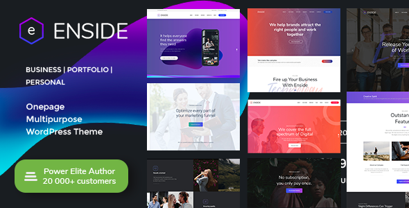Enside v1.2.1 — Multipurpose Onepage WordPress Theme