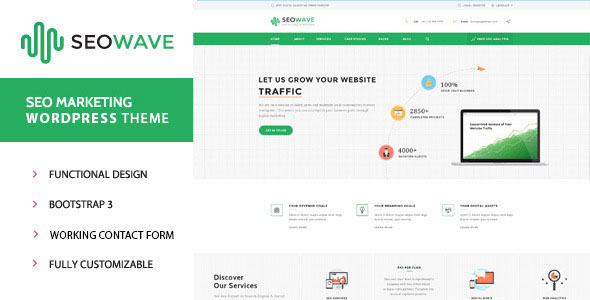 Seo Wave v1.3 — WordPress Theme for SEO