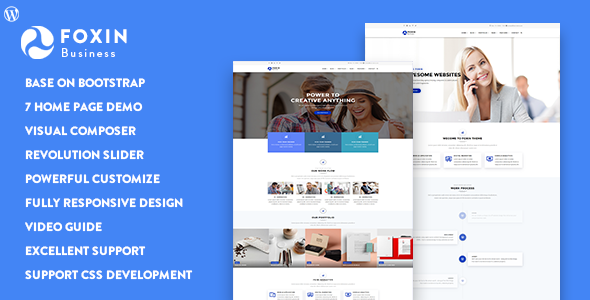 Foxin v1.1 — Responsive Business WordPress Theme