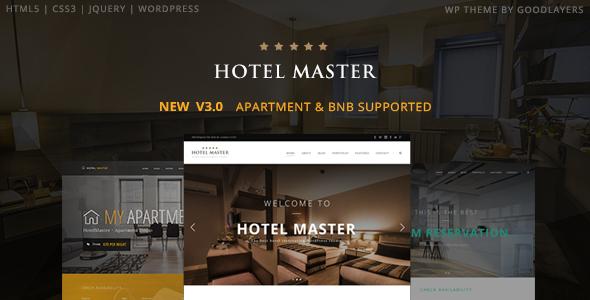 Hotel Master v3.03 — Hotel Booking WordPress Theme
