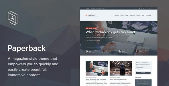 Paperback v1.8.0 — Magazine WordPress Theme