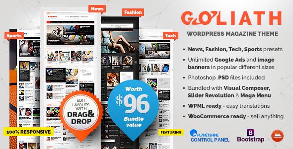 GOLIATH v1.0.37 — Ads Optimized News & Reviews Magazine