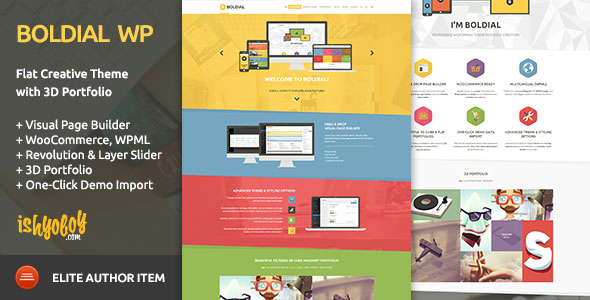 Boldial WP v2.9 — Flat Creative Theme with 3D Portfolio