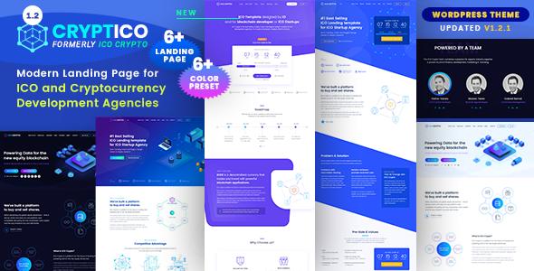 Cryptico v1.2.1 — ICO Crypto Landing & Cryptocurrency Theme