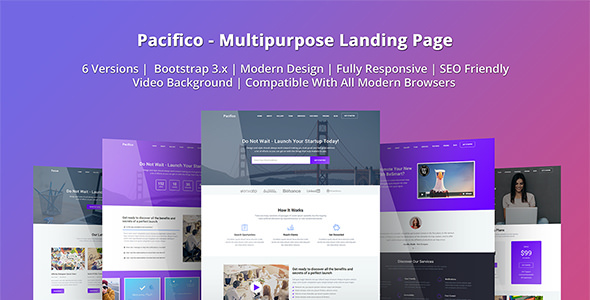 Pacifico — Multipurpose HTML Landing Page Template