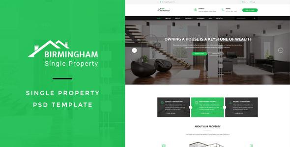 Brimingham — Single Property PSD Template