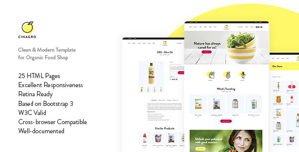 Cinagro — Organic Food Shop HTML Template