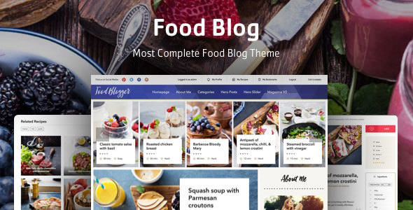 Food Blog v1.0.2 — Theme for personal food recipe blog