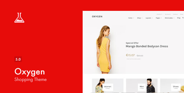 Oxygen v5.0.4 — WooCommerce WordPress Theme