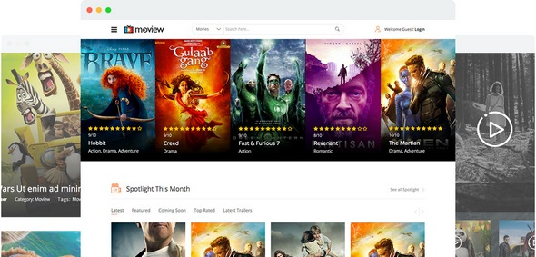 Moview v2.1 — Joomshaper Movie Database & Review Joomla Template
