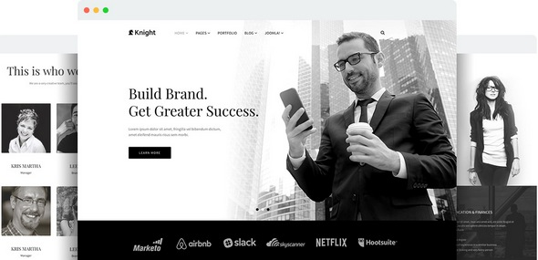 Knight v1.7 — Joomshaper Responsive Joomla Template for Company and Agency Sites
