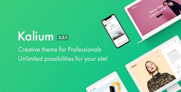 Kalium v2.5.1 — Creative Theme for Professionals