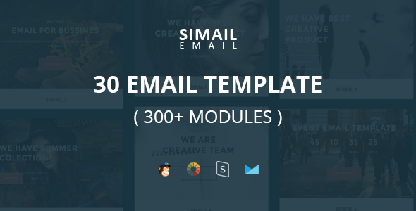 SIMAIL — 30 Email Template (300+ Modules) + Stampready Builder