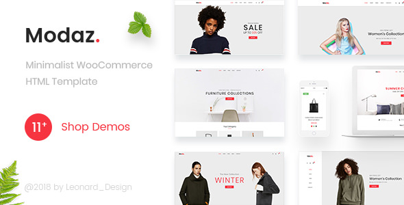 Modaz — Minimalist eCommerce HTML Template
