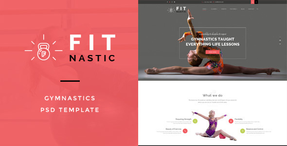 Fitnastic — Gymnastic PSD Template