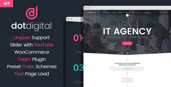 DotDigital v1.0.0 – Web Design Agency WordPress Theme