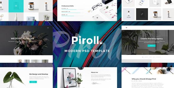 Piroll — Modern & Minimal Portfolio PSD Template