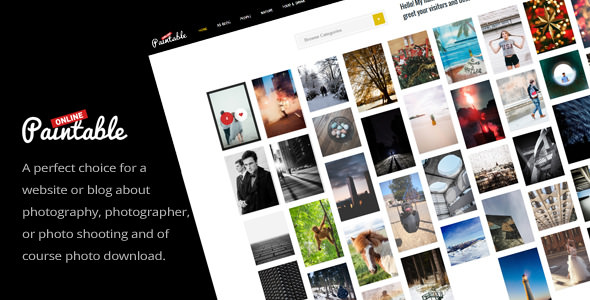 Paintable v1.4 — Photography and Blog / Photos Download Theme