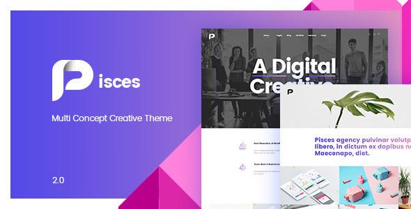 Pisces v2.0.2 — Multi Concept Creative Theme