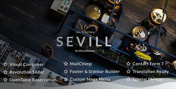 Sevill v1.0.5 — Restaurant Cafe WordPress Theme